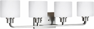 Seagull 4428804EN3-962 Canfield Modern Brushed Nickel LED 4-Light Bathroom Sconce Lighting