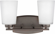 Seagull 4428902EN3-710 Franport Contemporary Burnt Sienna LED 2-Light Bath Lighting Sconce