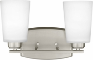 Seagull 4428902EN3-962 Franport Modern Brushed Nickel LED 2-Light Bathroom Wall Light Fixture