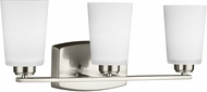 Seagull 4428903EN3-962 Franport Modern Brushed Nickel LED 3-Light Lighting For Bathroom