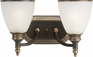 Seagull 44350EN-708 Laurel Leaf Estate Bronze LED 2-Light Bathroom Lighting Sconce