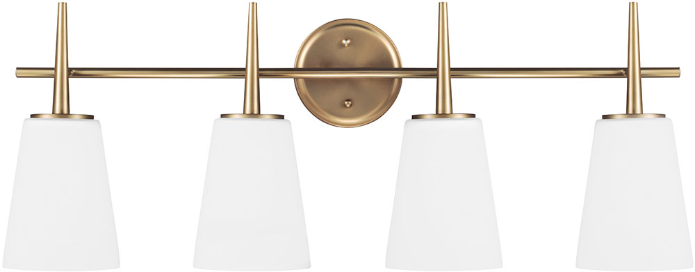 Talista 4 Light Antique Bronze Bath Vanity Light With: Seagull 4440404EN-848 Driscoll Contemporary Satin Bronze