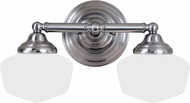 Seagull 44437BLE-962 Academy Brushed Nickel Fluorescent 3-Light Bathroom Lighting Sconce