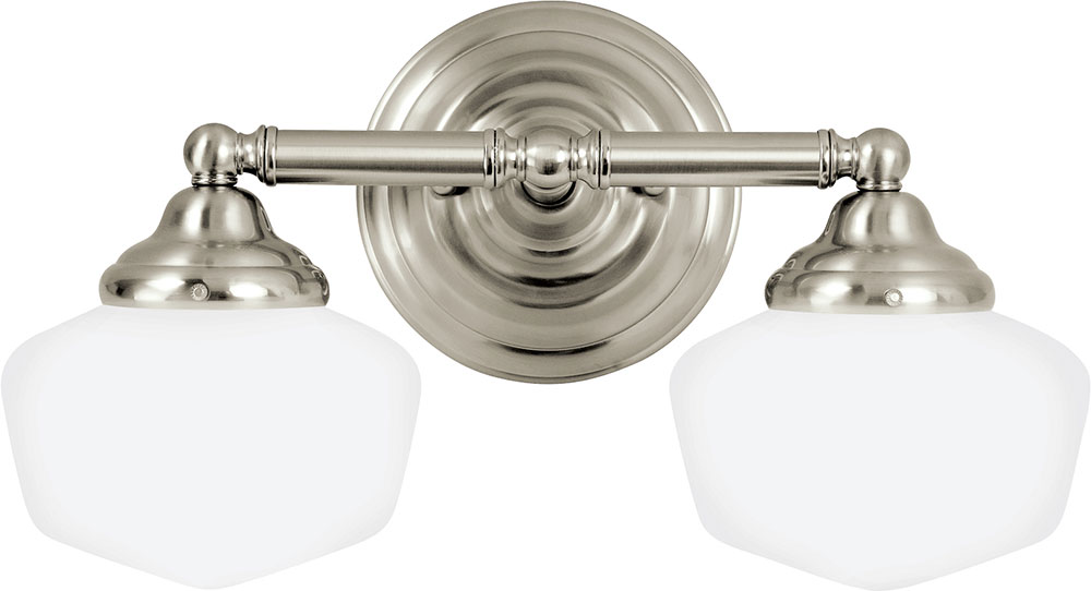 Seagull 44437EN 962 Academy Brushed Nickel LED 2 Light Bathroom Light  Fixture Loading ZoomSeagull 44437EN 962 Academy Brushed Nickel LED 2 Light  Bathroom