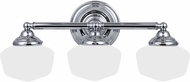 Seagull 44438BLE-05 Academy Chrome Fluorescent 4-Light Bathroom Lighting