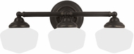 Seagull 44438BLE-782 Academy Heirloom Bronze Fluorescent 4-Light Lighting For Bathroom