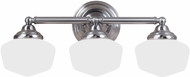 Seagull 44438BLE-962 Academy Brushed Nickel Fluorescent 4-Light Bath Lighting