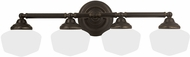 Seagull 44439BLE-782 Academy Heirloom Bronze Fluorescent 2-Light Bath Light Fixture