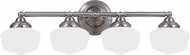 Seagull 44439BLE-962 Academy Brushed Nickel Fluorescent 3-Light Bath Lighting Fixture