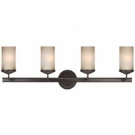 Seagull 4491404BLE-715 Sfera Contemporary Autumn Bronze Fluorescent 26  Vanity Light Fixture