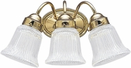 Seagull 4872EN3-02 Brookchester Polished Brass LED 3-Light Bathroom Vanity Light