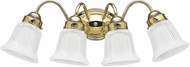 Seagull 4873EN3-02 Brookchester Polished Brass LED 4-Light Bath Sconce