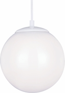 Seagull 602091S-15 Hanging Globe Modern White LED 12  Ceiling Pendant Light