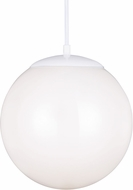 Seagull 602291S-15 Hanging Globe Contemporary White LED 14  Pendant Lighting