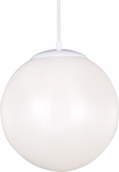 Seagull 602491S-15 Hanging Globe Modern White LED Mini Pendant Lamp