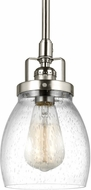Seagull 6114501-962 Belton Contemporary Brushed Nickel Mini Ceiling Pendant Light