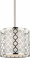 Seagull 6115501EN-962 Jourdanton Modern Brushed Nickel LED Mini Drop Ceiling Light Fixture