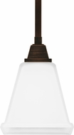 Seagull 6150401EN-710 Denhelm Contemporary Burnt Sienna LED Mini Pendant Hanging Light