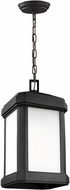 Seagull 6247401EN3-12 Gaelan Modern Black LED Exterior Drop Ceiling Light Fixture