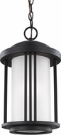 Seagull 6247901-12 Crowell Black Outdoor Drop Ceiling Light Fixture