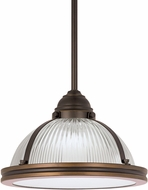 Seagull 65060EN-715 Pratt Street Prismatic Contemporary Autumn Bronze LED Mini Hanging Light