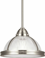 Seagull 65060EN-962 Pratt Street Prismatic Modern Brushed Nickel LED Mini Pendant Light Fixture