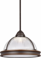 Seagull 6506191S-715 Pratt Street Prismatic Autumn Bronze LED 12.75  Hanging Light Fixture