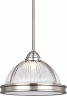 Seagull 6506191S-962 Pratt Street Prismatic Brushed Nickel LED 12.75  Drop Lighting