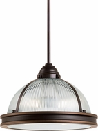 Seagull 65061EN-715 Pratt Street Prismatic Contemporary Autumn Bronze LED Pendant Lighting Fixture