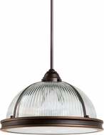 Seagull 65062EN-715 Pratt Street Prismatic Contemporary Autumn Bronze LED Hanging Pendant Light