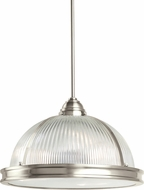 Seagull 65062EN-962 Pratt Street Prismatic Modern Brushed Nickel LED Pendant Hanging Light
