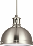 Seagull 65085EN-962 Pratt Street Metal Modern Brushed Nickel LED Mini Drop Lighting