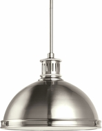 Seagull 65086EN-962 Pratt Street Metal Modern Brushed Nickel LED Ceiling Light Pendant