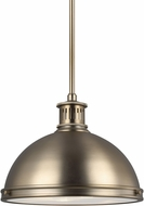 Seagull 65086EN3-848 Pratt Street Metal Contemporary Satin Bronze LED 13  Pendant Lighting Fixture
