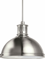 Seagull 65087EN-962 Pratt Street Metal Modern Brushed Nickel LED Drop Ceiling Light Fixture