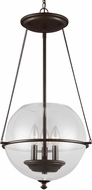 Seagull 6511903EN-715 Havenwood Modern Autumn Bronze LED 14.5  Foyer Light Fixture