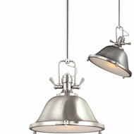 Seagull 6514401EN-962 Stone Street Modern Brushed Nickel LED 13  Adjustable Lighting Pendant