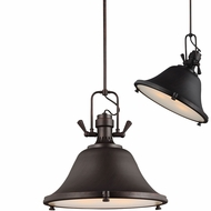 Seagull 6514403EN-710 Stone Street Contemporary Burnt Sienna LED 22  Adjustable Hanging Light