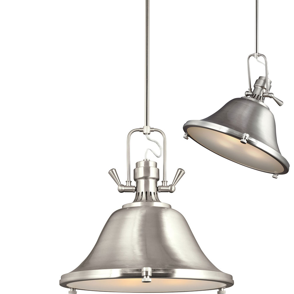 Seagull 6514403en 962 stone street modern brushed nickel led 22 seagull 6514403en 962 stone street modern brushed nickel led 22nbsp adjustable pendant light fixture loading zoom mozeypictures Gallery