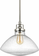 Seagull 6514501-962 Belton Contemporary Brushed Nickel Pendant Lighting Fixture