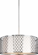 Seagull 6515503-962 Jourdanton Modern Brushed Nickel Drop Lighting Fixture