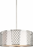 Seagull 6515503EN-962 Jourdanton Modern Brushed Nickel LED Drum Pendant Hanging Light
