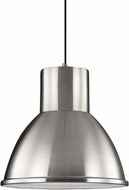 Seagull 6517491S-962 Division Street Brushed Nickel LED Hanging Pendant Light