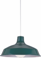 Seagull 651991S-95 Painted Shade Pendants Modern Emerald Green LED Drop Ceiling Light Fixture