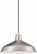 Seagull 651991S-98 Painted Shade Pendants Contemporary Brushed Stainless LED Drop Lighting Fixture