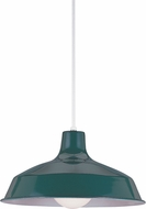 Seagull 6519EN-95 Painted Shade Contemporary Emerald Green LED Drop Lighting Fixture