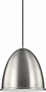 Seagull 6525401EN-04 Hudson Street Contemporary Satin Aluminum LED Pendant Light