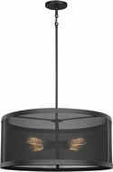 Seagull 6528504-12 Gereon Modern Black 24  Drum Drop Lighting Fixture
