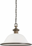 Seagull 65350EN-708 Laurel Leaf Estate Bronze LED Pendant Light Fixture