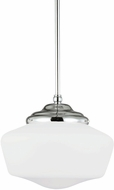 Seagull 6543791S-05 Academy Chrome LED Medium Hanging Pendant Light